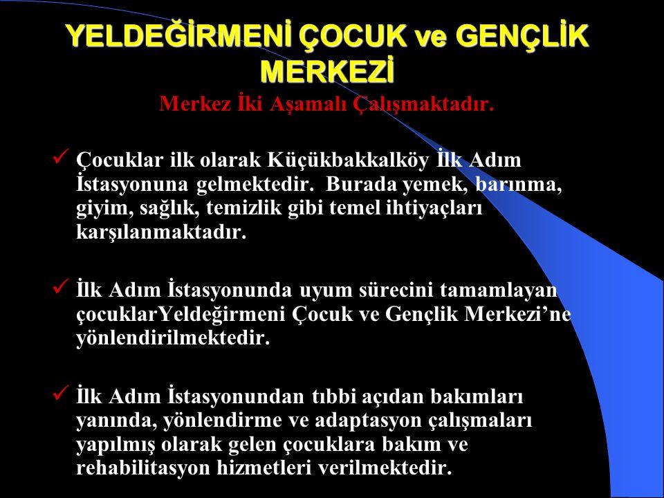 YELDEĞİRMENİ ÇOCUK ve GENÇLİK MERKEZİ Amacımız İstanbul'da 6-18 yaş arasında olan ve ebeveyni tarafından ihmal ve istismar edilerek her türlü tehlikey