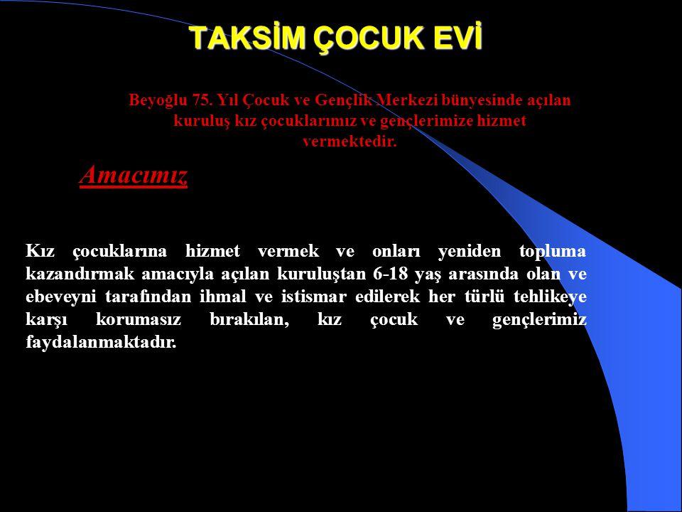 BEYOĞLU 75. YIL ÇOCUK VE GENÇLİK MERKEZİ Amacımız İstanbul ilinde sokakta çalışan çocuklarla ilgili olarak ilk çalışmalar Beyoğlu 75. Yıl Çocuk ve Gen