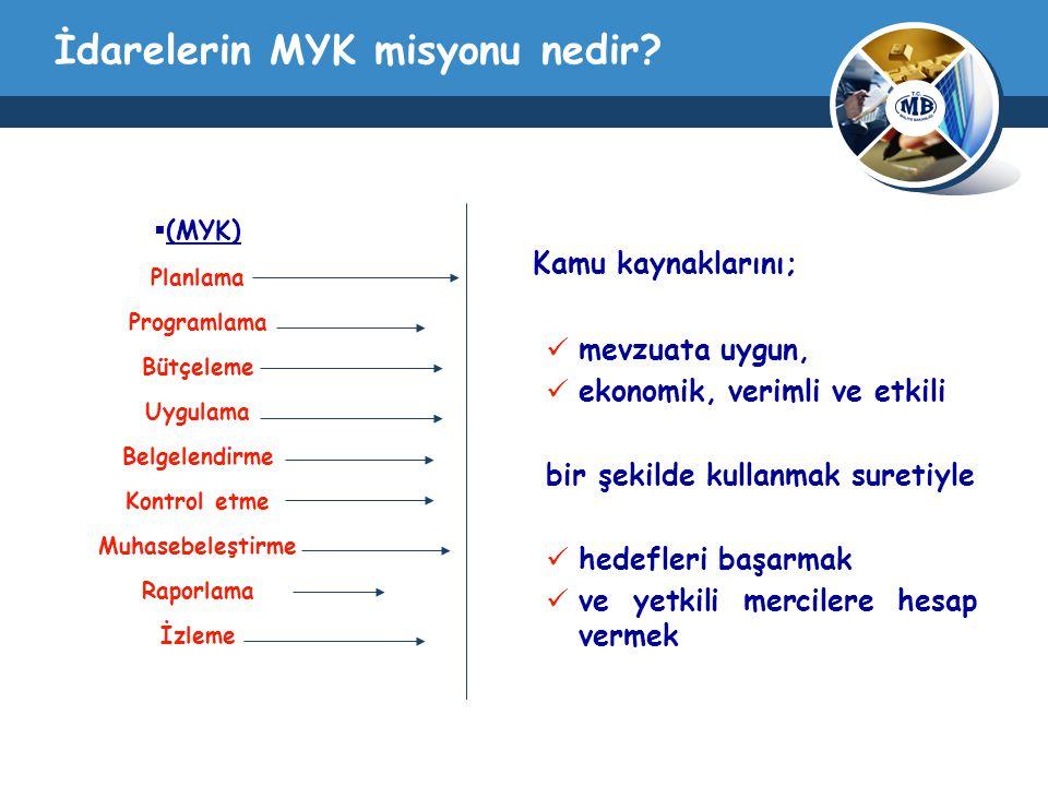İdarelerin MYK misyonu nedir.