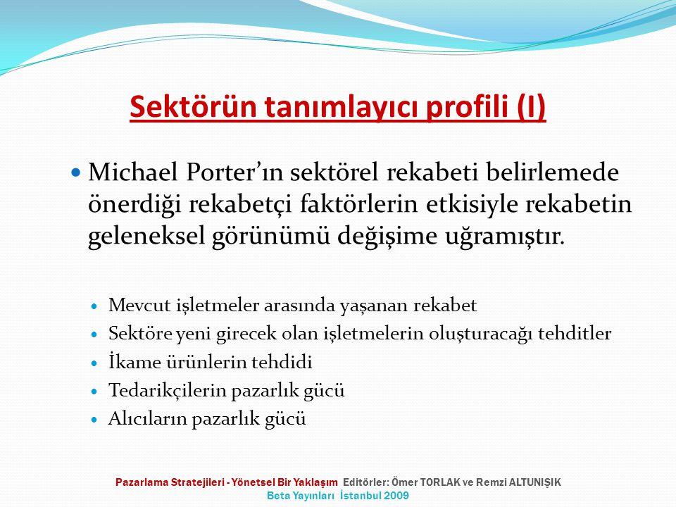 Sektörün tanımlayıcı profili (I) Michael Porter'ın sektörel rekabeti belirlemede önerdiği rekabetçi faktörlerin etkisiyle rekabetin geleneksel görünüm