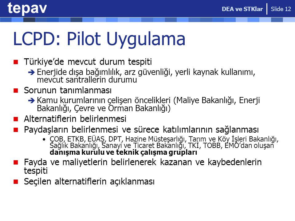 LCPD: Pilot Uygulama Türkiye'de mevcut durum tespiti  Enerjide dışa bağımlılık, arz güvenliği, yerli kaynak kullanımı, mevcut santrallerin durumu Sor