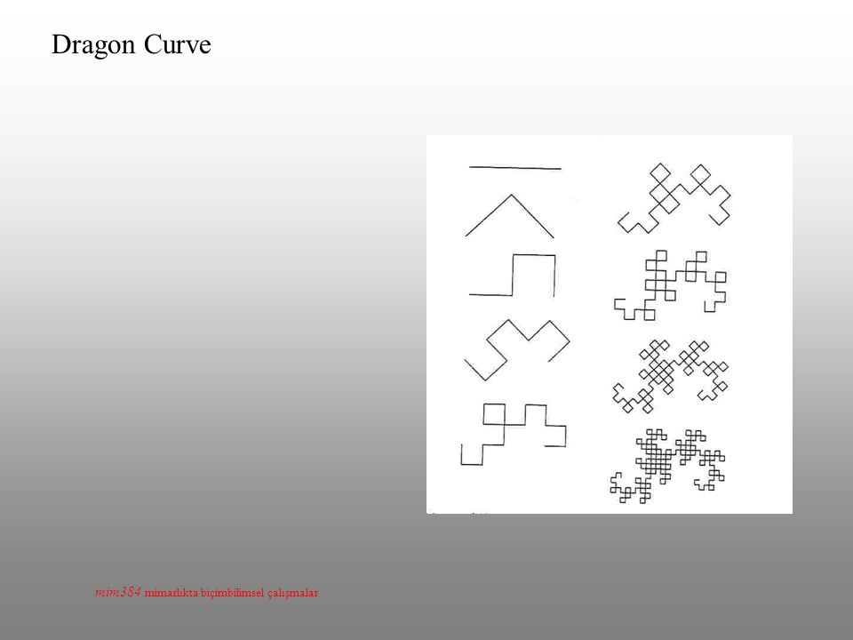 mim384 mimarlıkta biçimbilimsel çalışmalar Dragon Curve