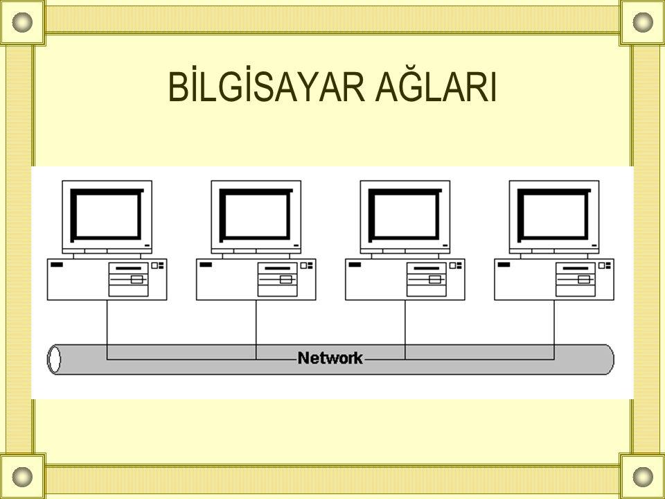 Ağ Nedir.Birden çok bilgisayarın birbirine bağlanarak kaynakları paylaşmaktır.