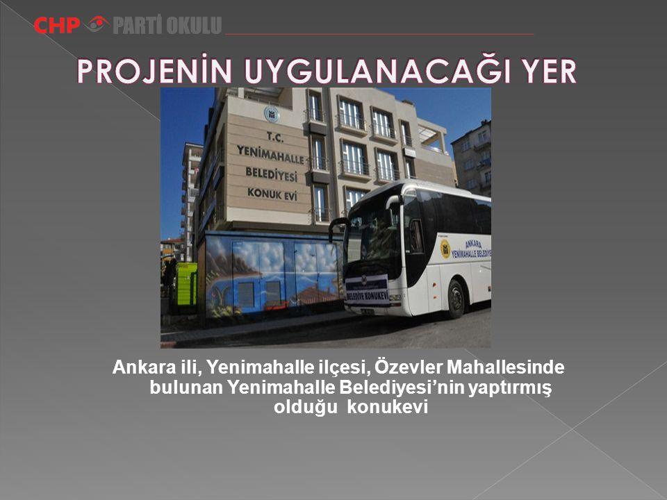 Ankara ili, Yenimahalle ilçesi, Özevler Mahallesinde bulunan Yenimahalle Belediyesi'nin yaptırmış olduğu konukevi