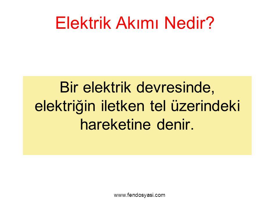 Elektrik Akımı Nedir? Bir elektrik devresinde, elektriğin iletken tel üzerindeki hareketine denir.