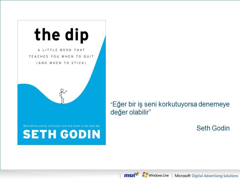 """"""" Eğer bir iş seni korkutuyorsa denemeye değer olabilir"""" Seth Godin"""