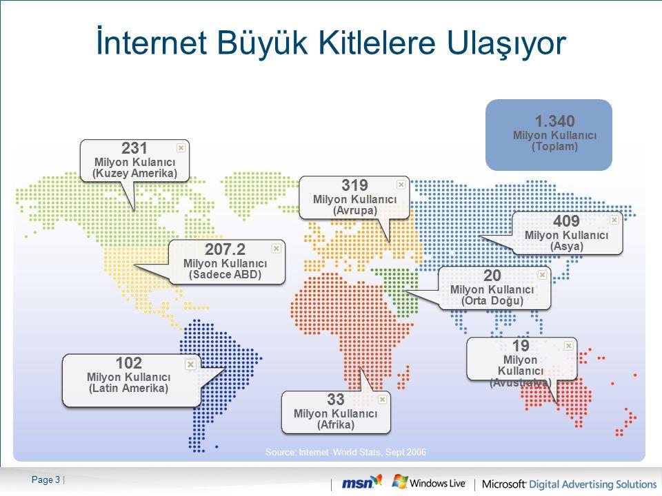 Page 4 |kaynak: Oppenheimer 2006 251 Milyon Ev 2009 400 milyon Ev İnternetin Dünyadaki Gelişimi 2006 Yılında 251 milyon eve ulaşan geniş - bant internet sayısının 2009 yılında 400 milyon eve ulaşması bekleniyor