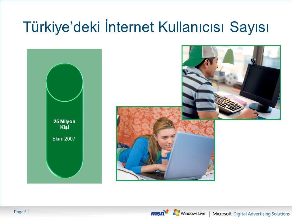 Page 6 | kaynak : Türk Telekom Türkiye'deki Geniş Bant Bağlantıya Sahip Hane Sayısı 1.78 Milyon Hane Mart 2006 3.26 Milyon Hane Mart 2007 3.8 Milyon Hane Temmuz 2007 4.2 Milyon Hane Ekim 2007