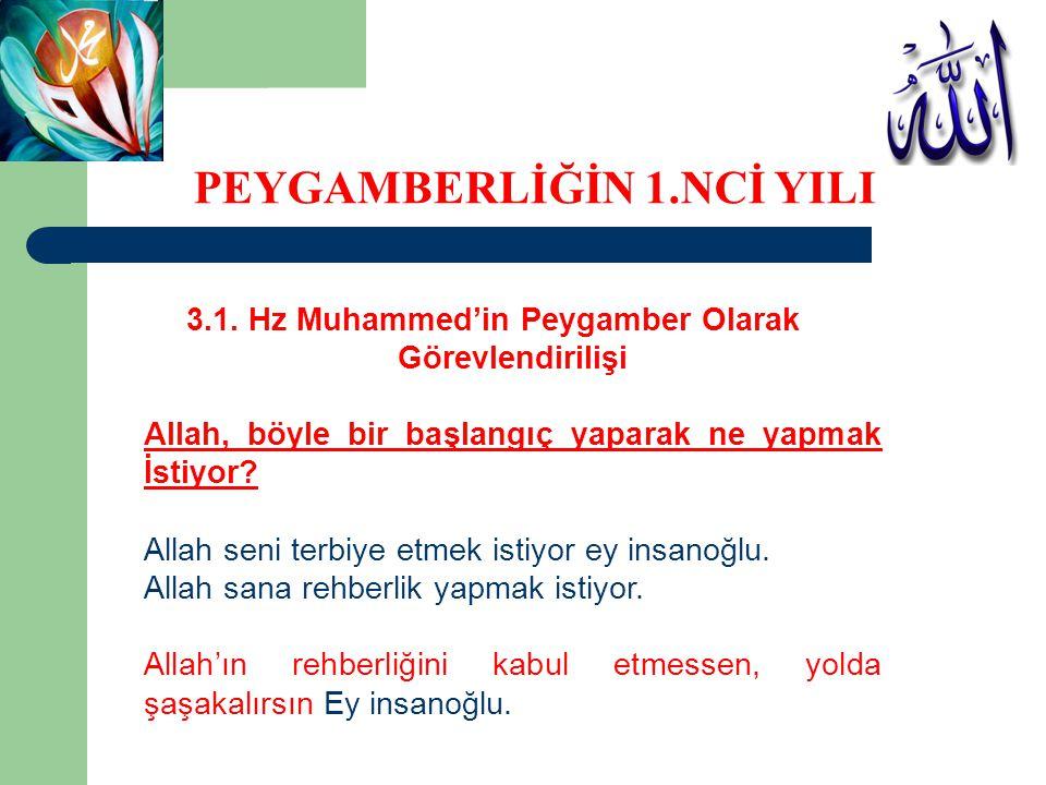 3.1. Hz Muhammed'in Peygamber Olarak Görevlendirilişi Allah, böyle bir başlangıç yaparak ne yapmak İstiyor? Allah seni terbiye etmek istiyor ey insano