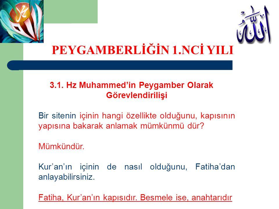 3.1. Hz Muhammed'in Peygamber Olarak Görevlendirilişi Bir sitenin içinin hangi özellikte olduğunu, kapısının yapısına bakarak anlamak mümkünmü dür? Mü