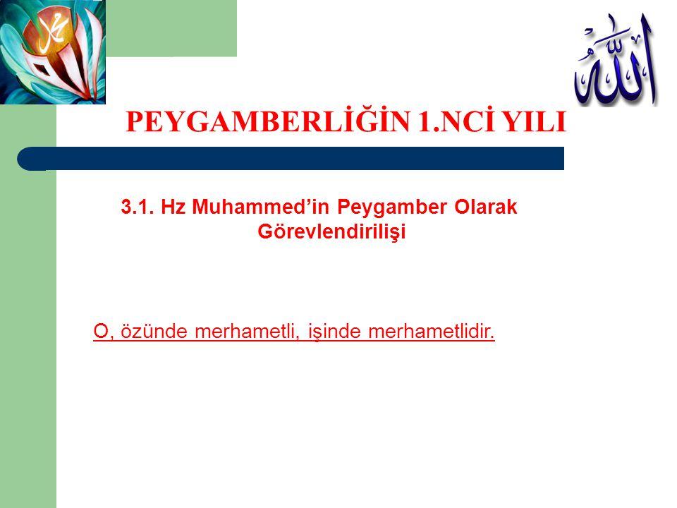 3.1. Hz Muhammed'in Peygamber Olarak Görevlendirilişi O, özünde merhametli, işinde merhametlidir. PEYGAMBERLİĞİN 1.NCİ YILI