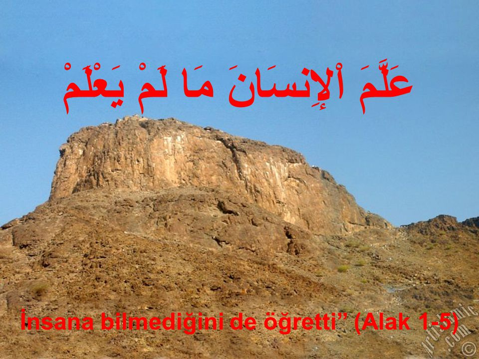3.1.Hz Muhammed'in Peygamber Olarak Görevlendirilişi Hamd, nasıl bir Allah içindir.
