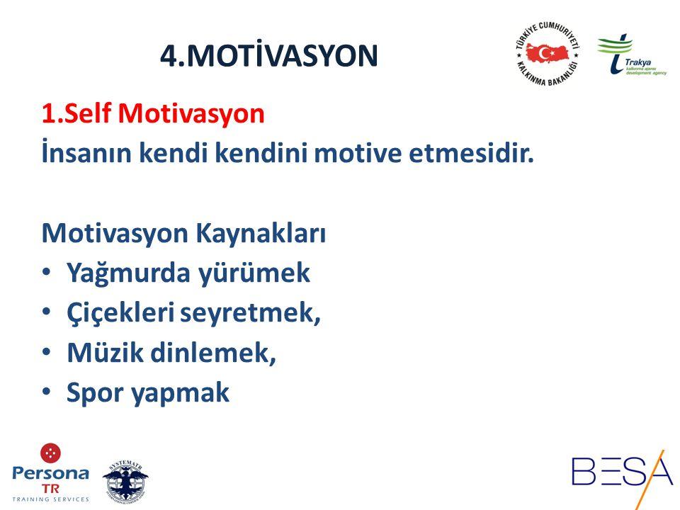 4.MOTİVASYON 2.Genel Motivasyon Çalışma birlikteliği içerisinde devamlı olması gereken pozitif ve yapıcı davranışlardır.