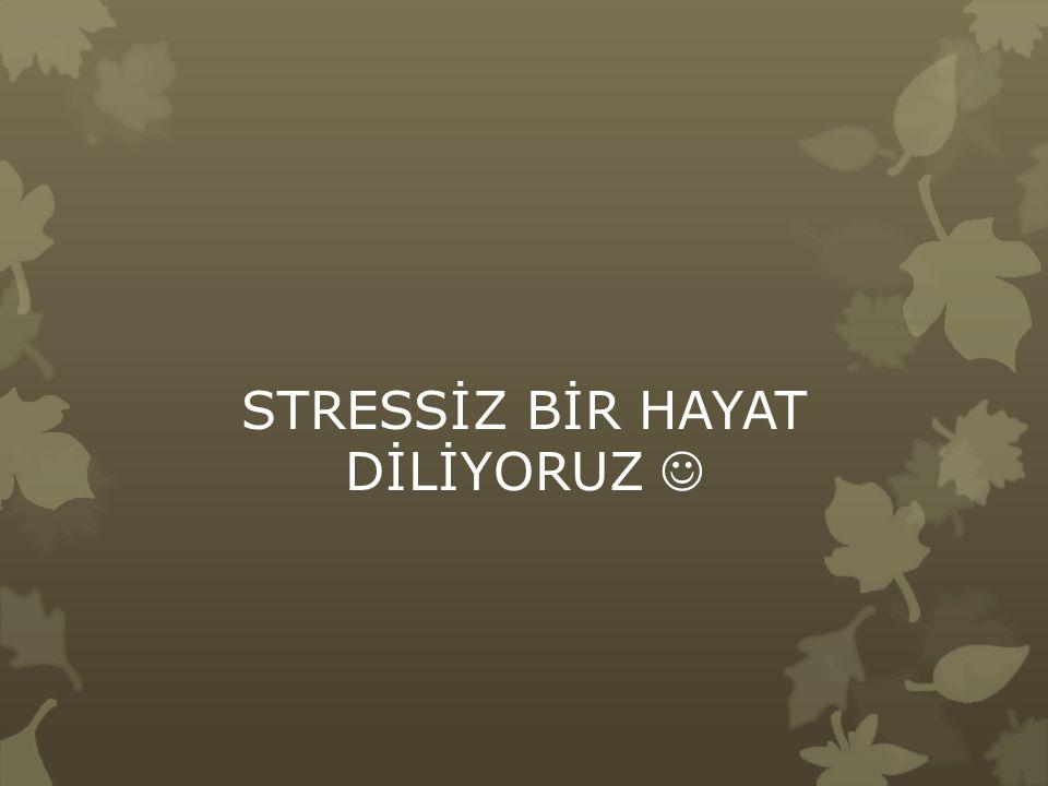 STRESSİZ BİR HAYAT DİLİYORUZ