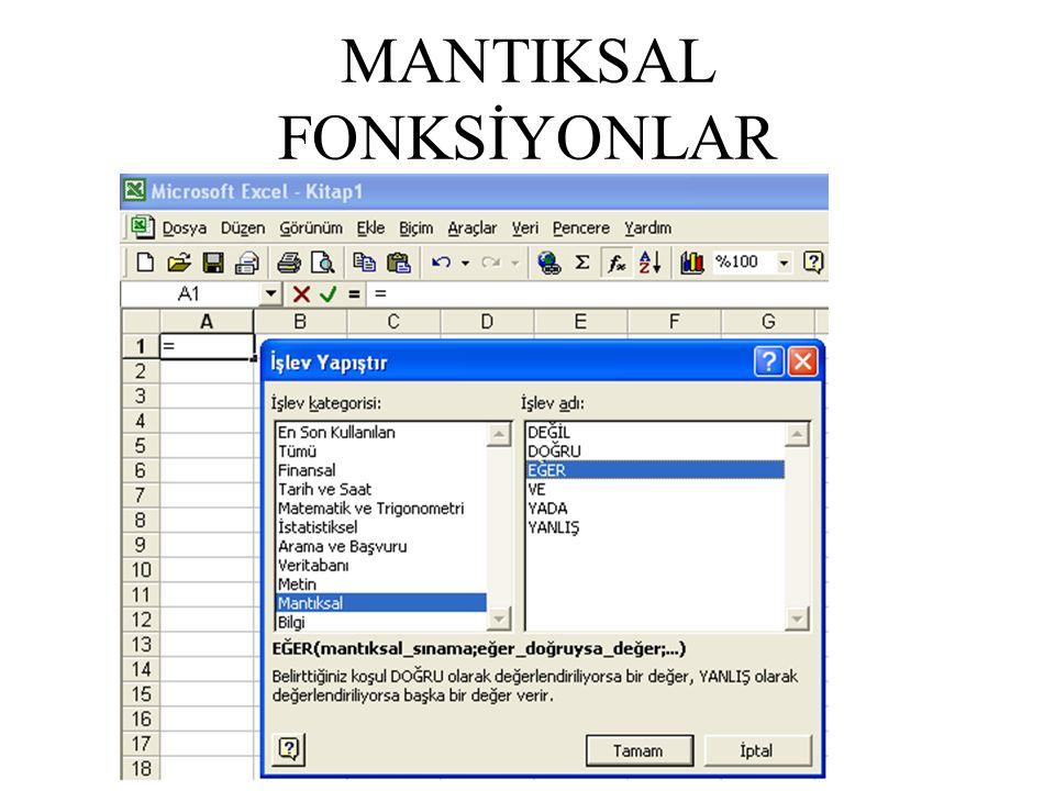 MANTIKSAL FONKSİYONLAR