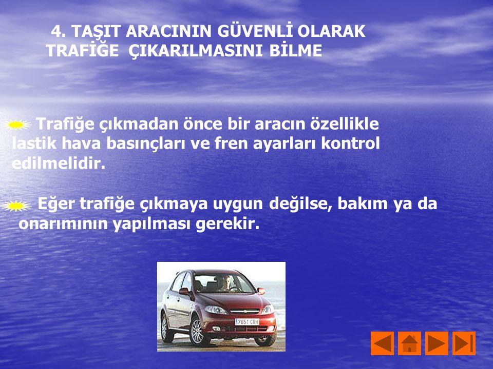Trafikte en önemli sorumluluk sürücülere düşmektedir. Sürücüler, sakin ve soğukkanlı olmalıdırlar. Hemen sinirlenmemeli ve yayalara karşı saygılı olma