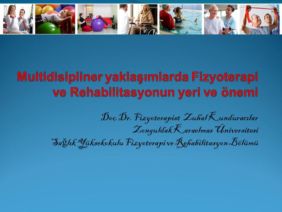 Doç.Dr. Fizyoterapist Zuhal Kunduracılar Zonguldak Karaelmas Üniversitesi Sa ğ lık Yüksekokulu Fizyoterapi ve Rehabilitasyon Bölümü