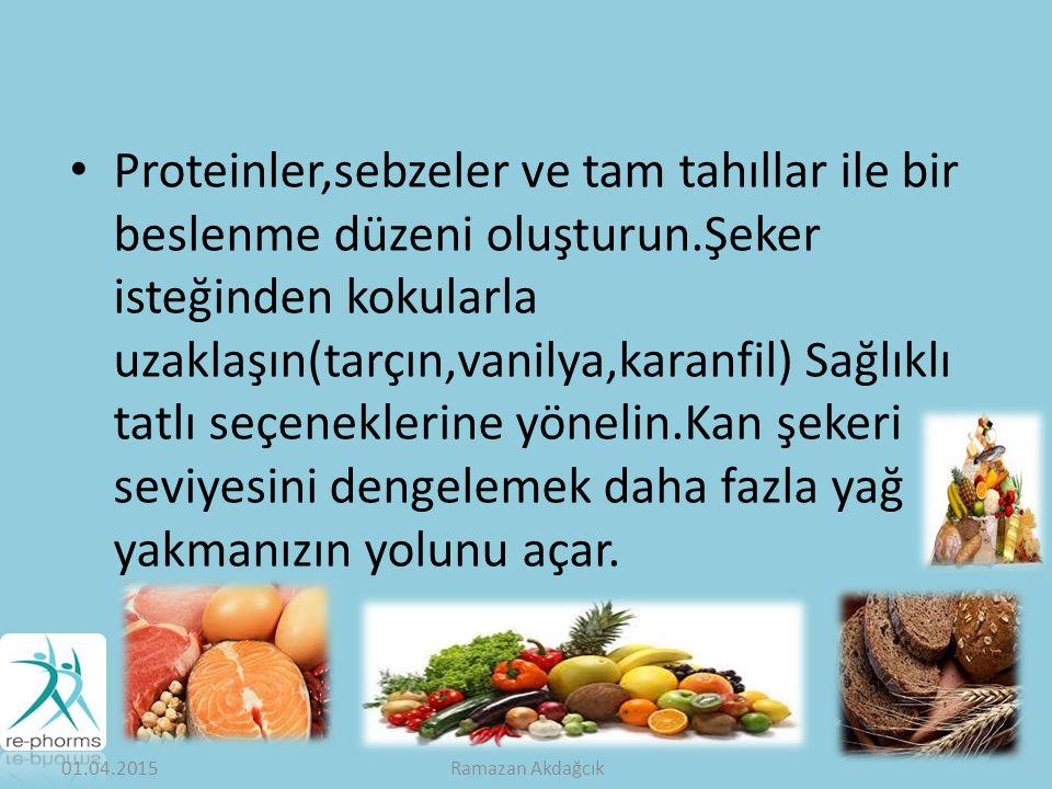 Proteinler,sebzeler ve tam tahıllar ile bir beslenme düzeni oluşturun.Şeker isteğinden kokularla uzaklaşın(tarçın,vanilya,karanfil) Sağlıklı tatlı seçeneklerine yönelin.Kan şekeri seviyesini dengelemek daha fazla yağ yakmanızın yolunu açar.