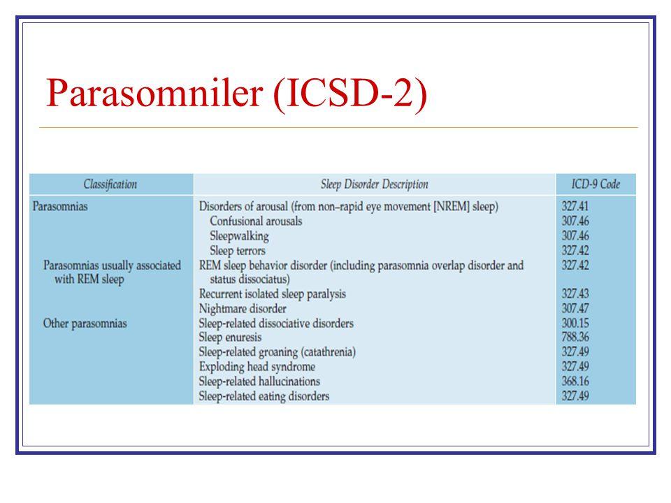 Parasomniler (ICSD-2)