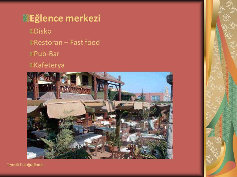 Eğlence merkezi Disko Restoran – Fast food Pub-Bar Kafeterya Temsili Fotoğraflardır.