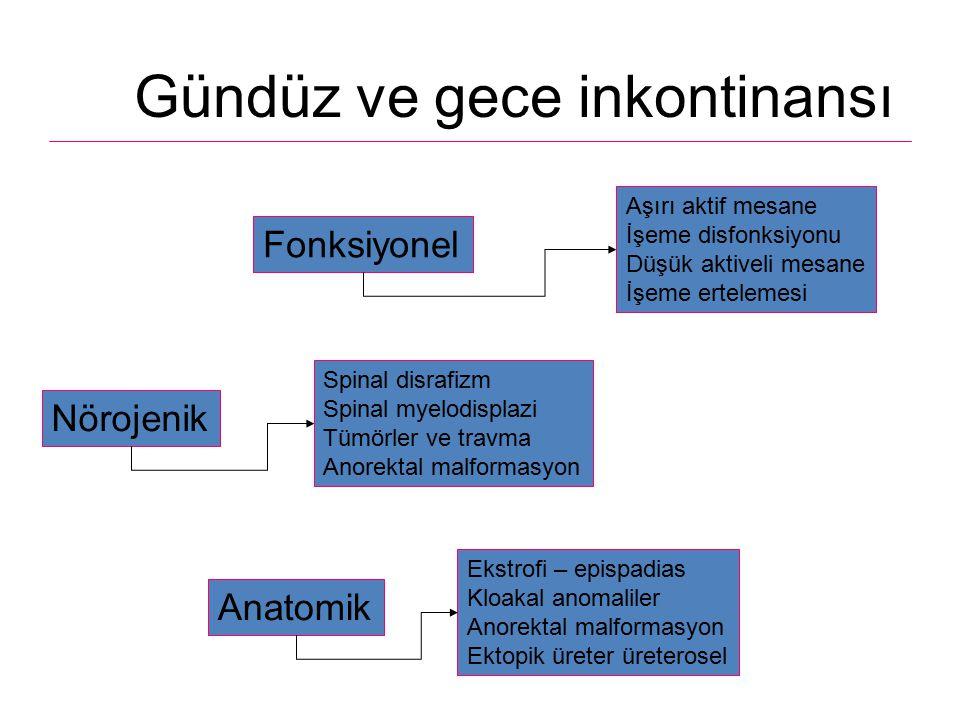 Ultrasonografi – Komorbidite hakkında bilgi verir – mesane duvar kalınlığı (3-4 mm) – üst sistem durumu – rezidual idrar