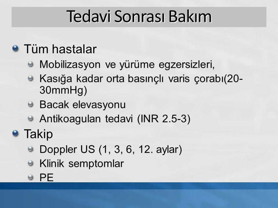 PAT vs.Antikoagulasyon Semptom skor Tanı1. ay kontrol3.