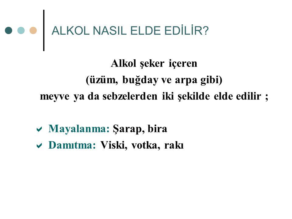 ALKOL NASIL ELDE EDİLİR.