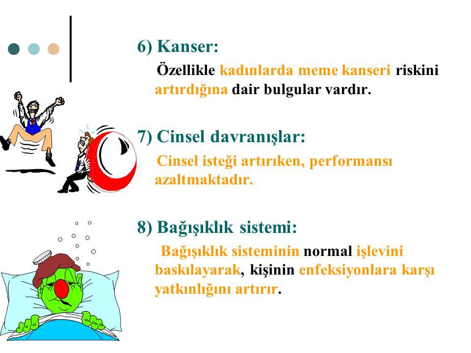4) Karaciğer: Yüksek dozlarda ve kronik kullanımda karaciğer fonksiyonlarında bozulma ortaya çıkar. KC de yağlanma, siroz 5) Sindirim sistemi: Gastrit