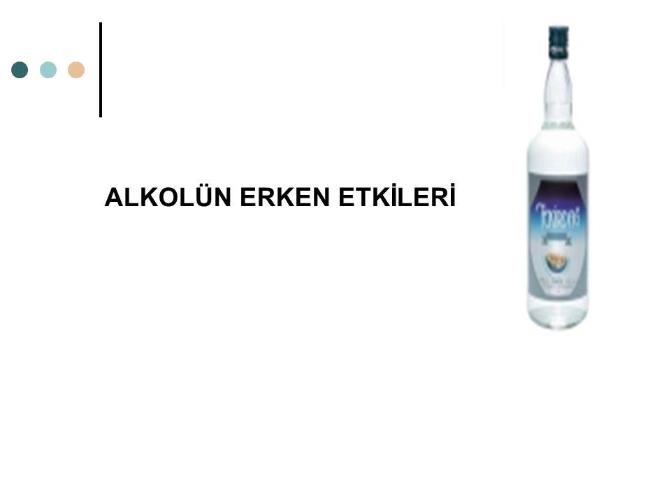 Bunlardan ilki: 1. Hemen alkol alındıktan sonra ortaya çıkan etkiler.. yani ALKOLÜN ERKEN ETKİLERİ.. 2. Uzun süreli alkol kullanımına bağlı etkiler..
