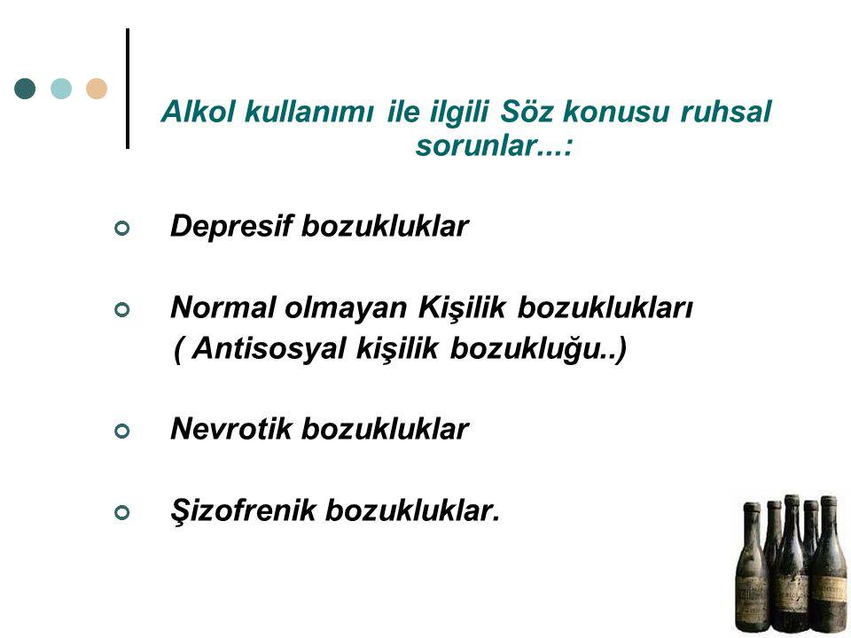 İkinci tür yaklaşım: 1. Asıl sorunun alkolizm, diğer bedensel ve ruhsal sorunların bunun sonucunda ortaya çıktığı durumlar.. 2. Asıl sorunun ruhsal bo