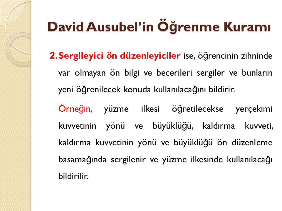 David Ausubel'in Ö ğ renme Kuramı 2.