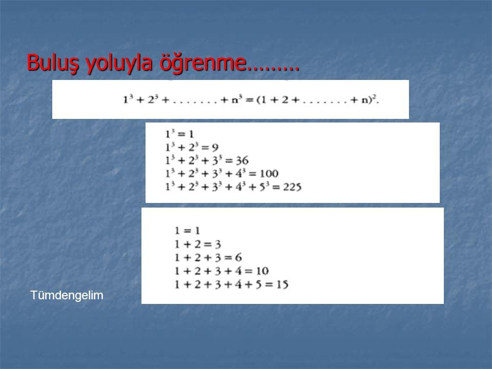 Matematiksel anlamı nerede?........