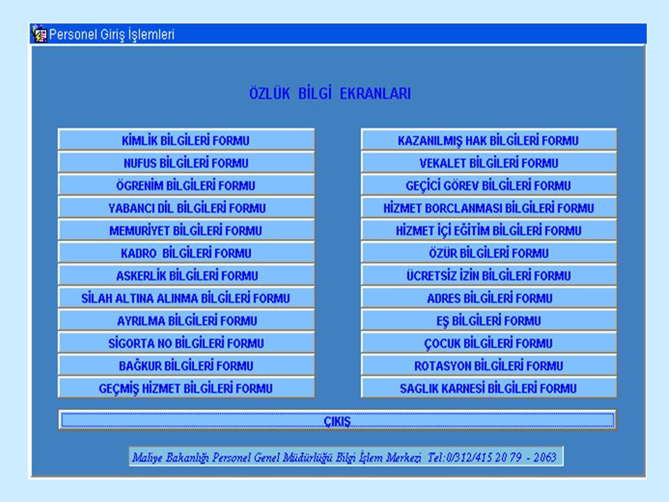 PERSONEL BİLGİLERİ GİRİŞİ Personel Bilgilerini Bilgisayarınızdaki bu formlara aktarmak için daha önceden doldurmuş olduğunuz formlardan ekrana nasıl bilgi girişi yapılır şimdi bunu görelim.