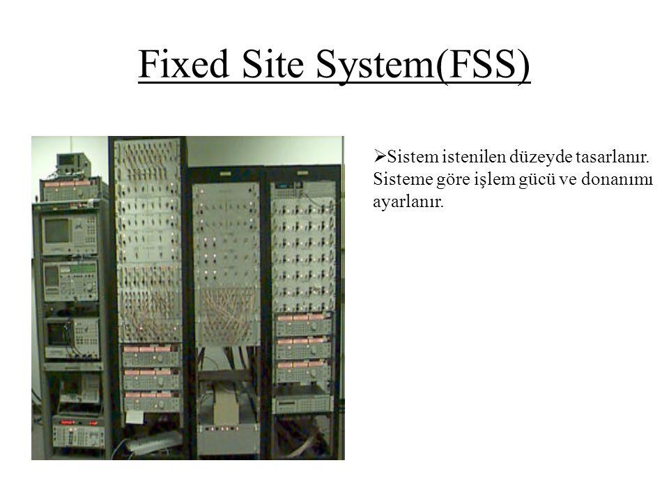 Fixed Site System(FSS)  Sistem istenilen düzeyde tasarlanır. Sisteme göre işlem gücü ve donanımı ayarlanır.
