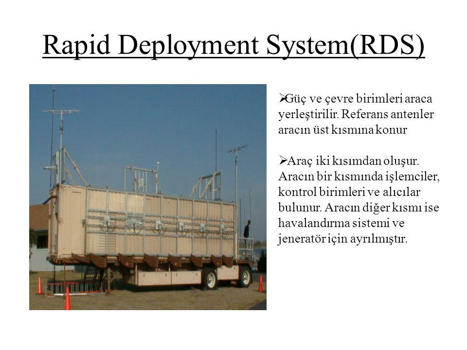 Rapid Deployment System(RDS)  Güç ve çevre birimleri araca yerleştirilir. Referans antenler aracın üst kısmına konur  Araç iki kısımdan oluşur. Arac