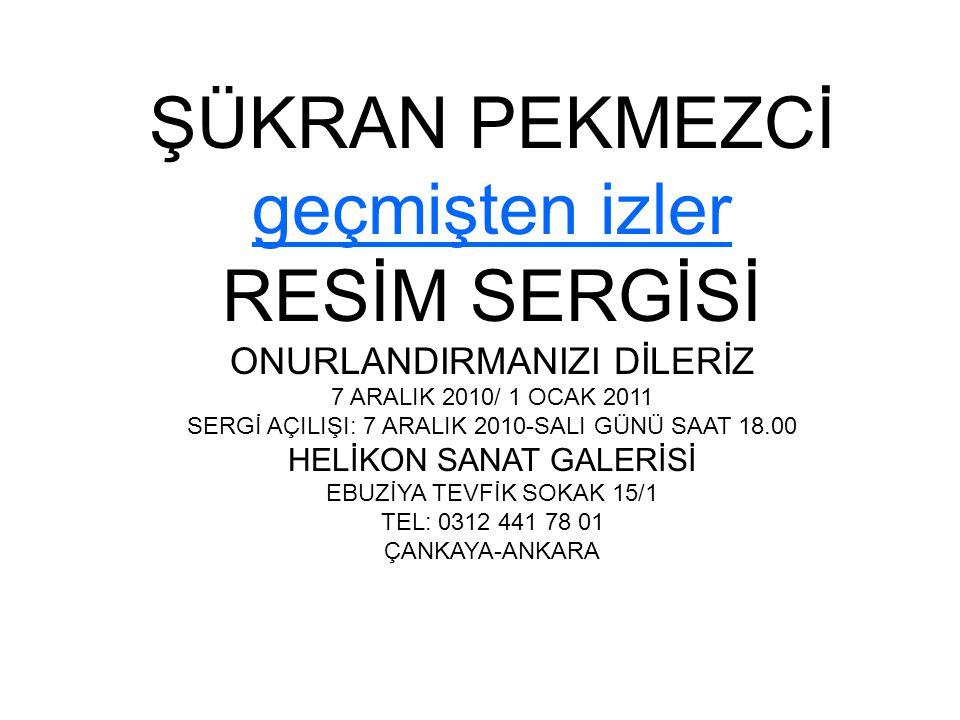 Şükran (Atay) Pekmezci Özgeçmişi Şükran Pekmezci, 1946 yılında Çankırı'da doğdu.