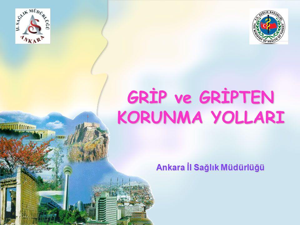 GRİP ve GRİPTEN KORUNMA YOLLARI Ankara İl Sağlık Müdürlüğü