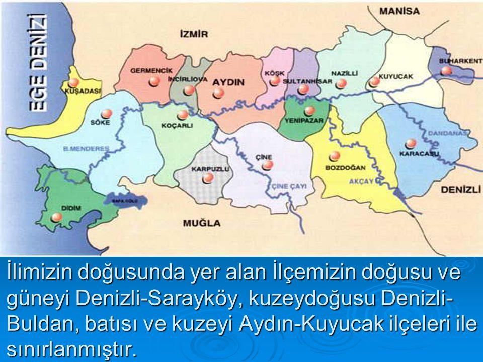 Aydın- Denizli illeri arasında bağlantılı kara ve demiryolları İlçemiz sınırlarından geçmektedir.