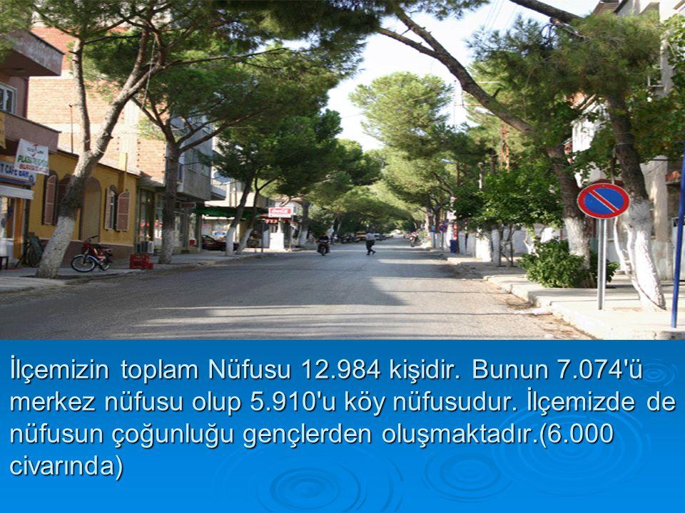 İlçemizin toplam Nüfusu 12.984 kişidir. Bunun 7.074 ü merkez nüfusu olup 5.910 u köy nüfusudur.