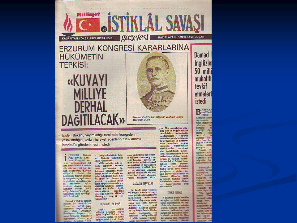 Ali Rıza Paşa Kabinesi ve Amasya Görüşmeleri Ali Rıza Paşa Kabinesi ve Amasya Görüşmeleri Ali Rıza Paşa kabinesinin kurulmasından sonra,İstanbul ile ilişkiler düzelmeye başladı.