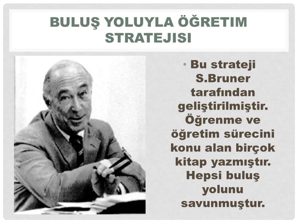BULUŞ YOLUYLA ÖĞRETIM STRATEJISI Bu strateji S.Bruner tarafından geliştirilmiştir.