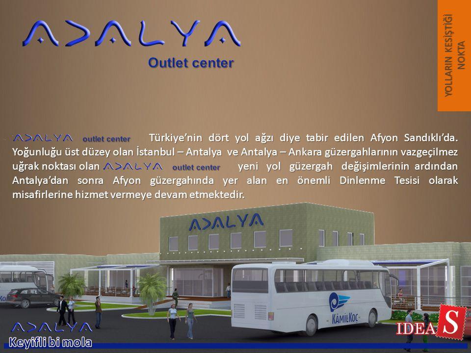 Türkiye'nin dört yol ağzı diye tabir edilen Afyon Sandıklı'da. Yoğunluğu üst düzey olan İstanbul – Antalya ve Antalya – Ankara güzergahlarının vazgeçi