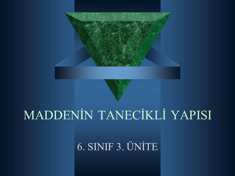 MADDENİN TANECİKLİ YAPISI 6. SINIF 3. ÜNİTE