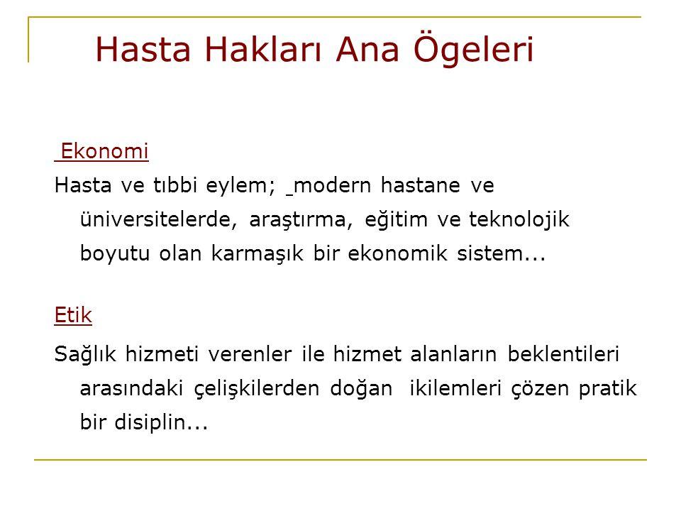 Hasta Hakları Koordinatörlüğü: Hedefler - Standardizasyonu yükseltmek için operasyonel eğitimler(Dökümantasyon Eğitimi Kurul eğitimleri vb.) - Hasta Hakları Halkla Buluşuyor Projesi(toplum eğitimlerinde ulaşılan kişi sayısını İstanbul kenti nüfusuna oranlı olarak yükseltmek) - Sağlık Engel Tanımaz Projesi(Özürlüler İdaresi İşbirliği ile İşaret Dili Eğitimi ve Hasta Hakları Eğitimleri vb)