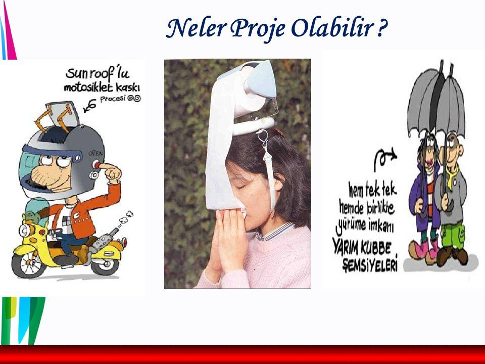 Neler Proje Olabilir ? Kaynak :ua.gov.tr, G.Akçaer ve S. Körezlioğlu