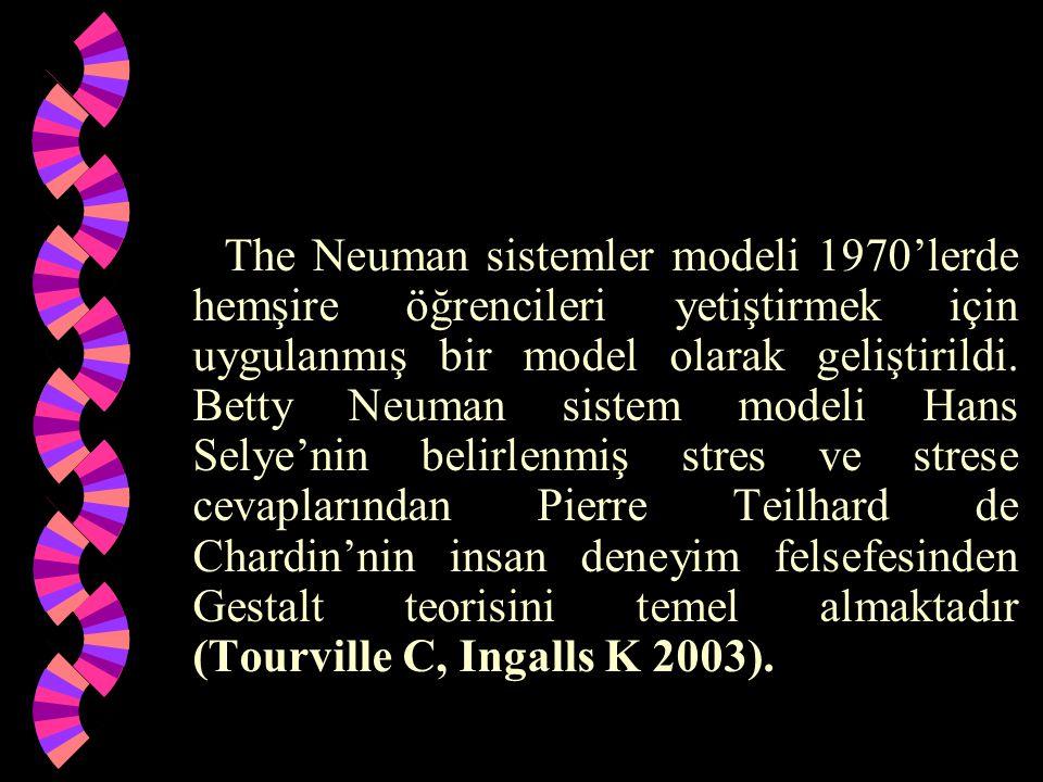 The Neuman sistemler modeli 1970'lerde hemşire öğrencileri yetiştirmek için uygulanmış bir model olarak geliştirildi. Betty Neuman sistem modeli Hans