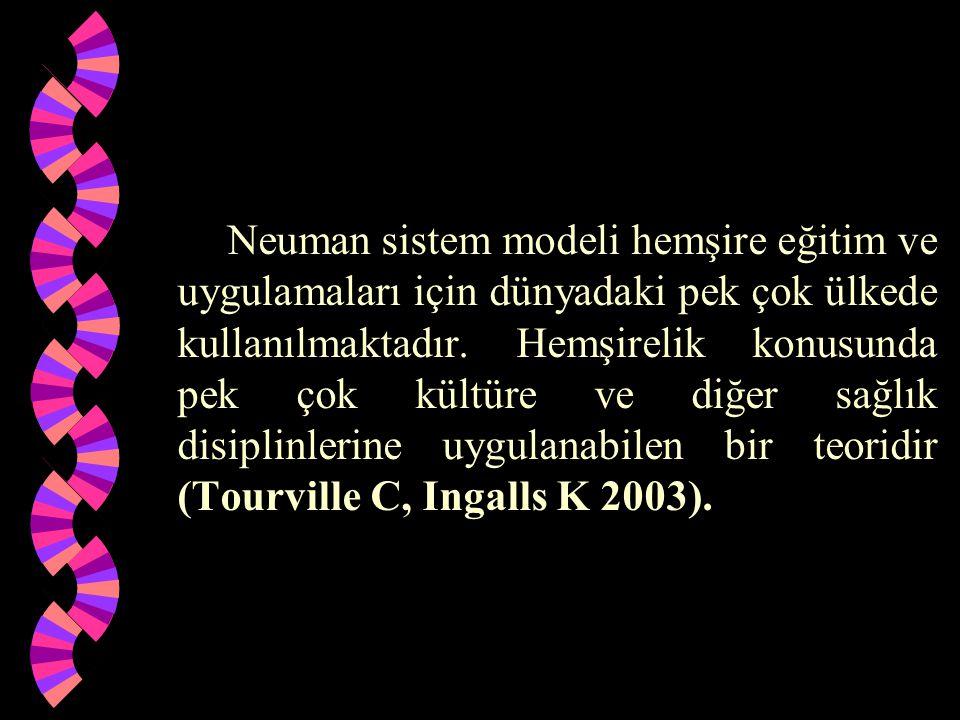 Neuman sistem modeli hemşire eğitim ve uygulamaları için dünyadaki pek çok ülkede kullanılmaktadır. Hemşirelik konusunda pek çok kültüre ve diğer sağl