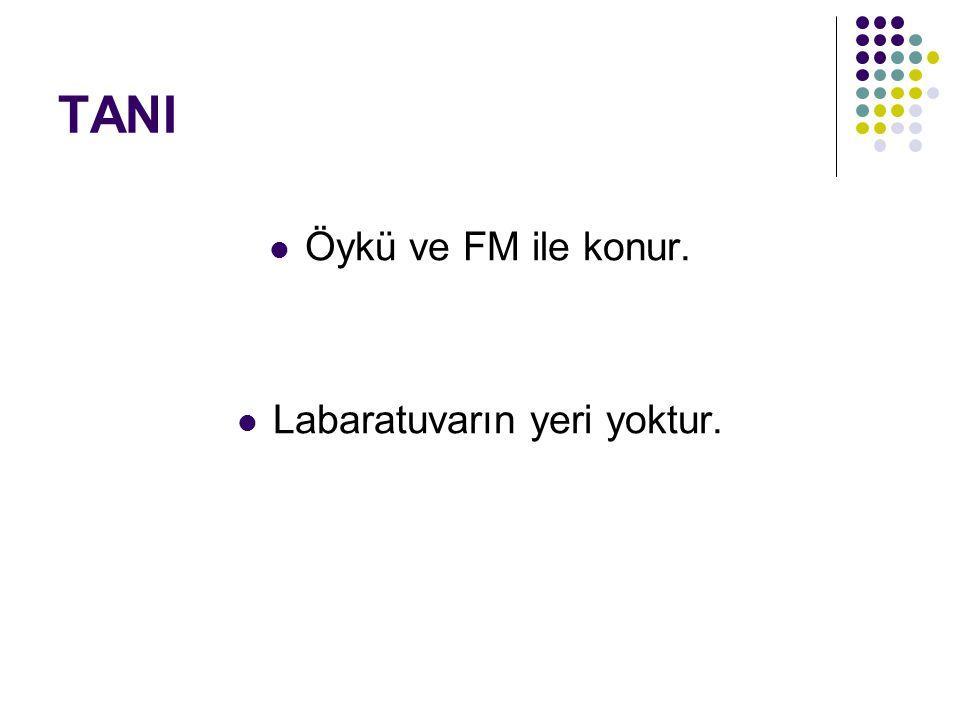 TANI Öykü ve FM ile konur. Labaratuvarın yeri yoktur.