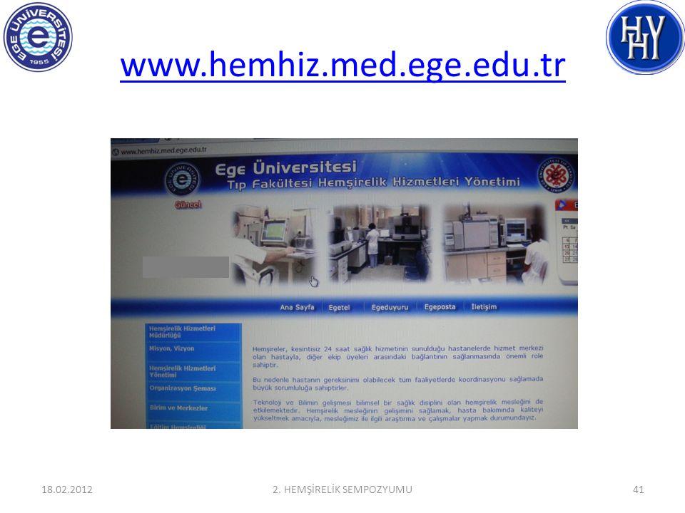 www.hemhiz.med.ege.edu.tr 18.02.20122. HEMŞİRELİK SEMPOZYUMU41
