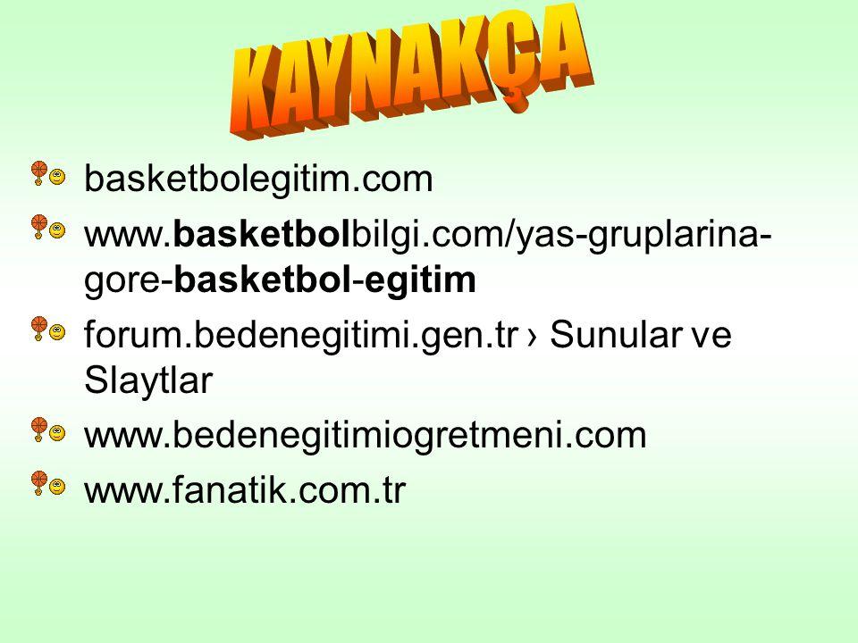 basketbolegitim.com www.basketbolbilgi.com/yas-gruplarina- gore-basketbol-egitim forum.bedenegitimi.gen.tr › Sunular ve Slaytlar www.bedenegitimiogret
